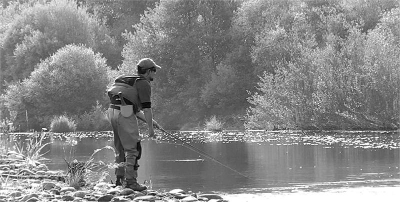 Pescando a Spinning en el Río Tera