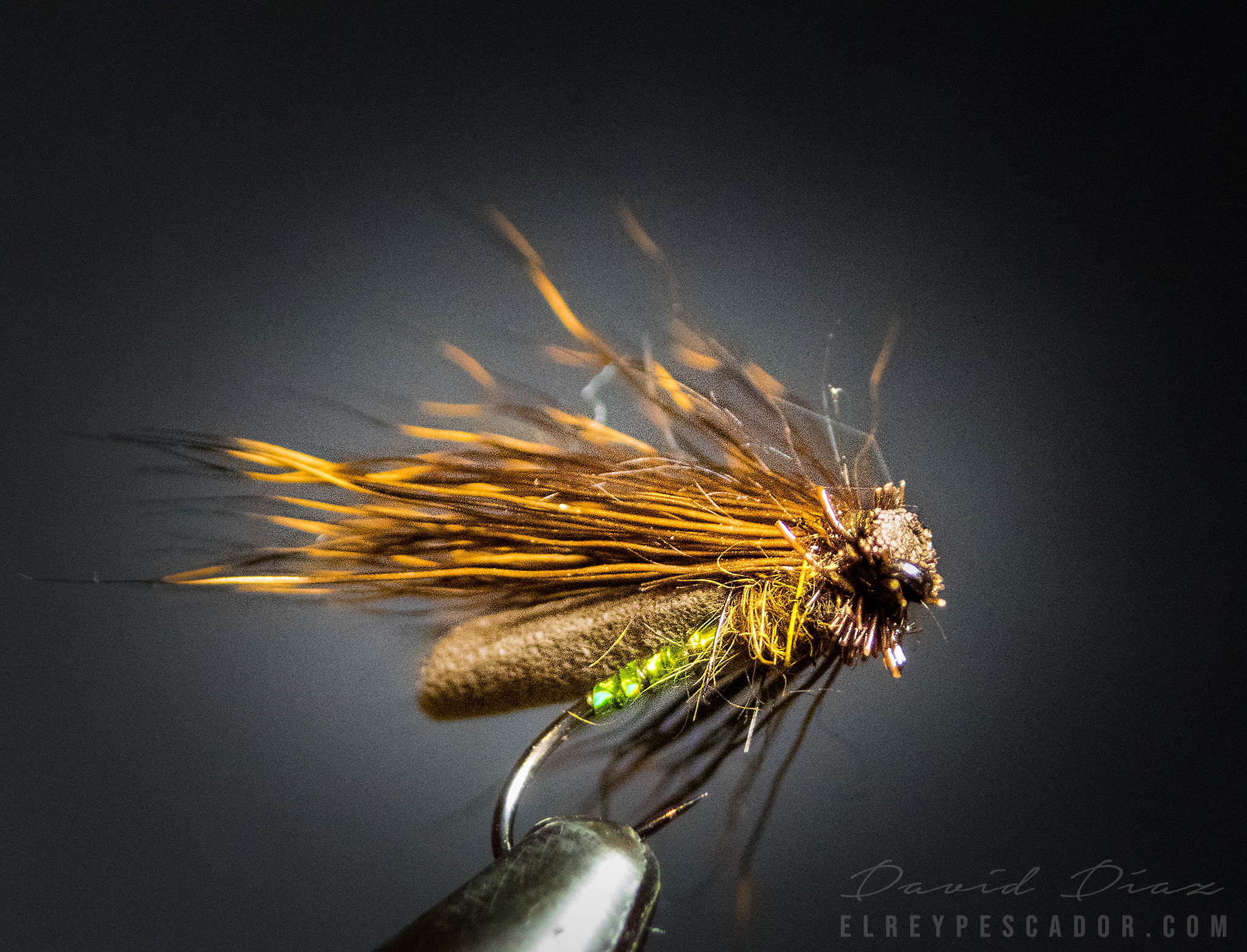 Flytying - Deer hair + foam caddis